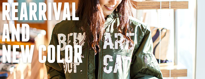MA-1「BEWARE OF CAT」再入荷&新色オリーブドラブを追加!