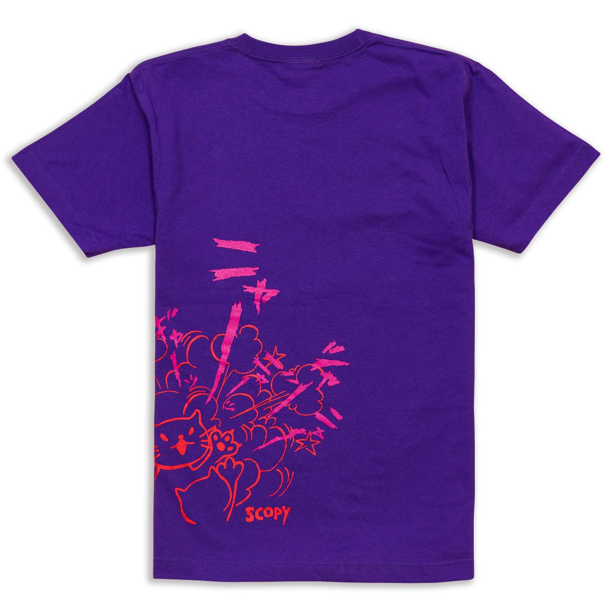 Tシャツ CAT'S SCREAM パープル