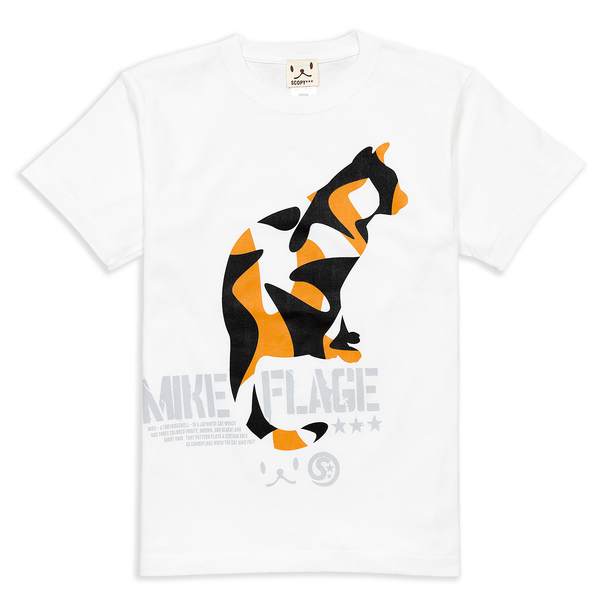Tシャツ MIKE-FLAGE ホワイト