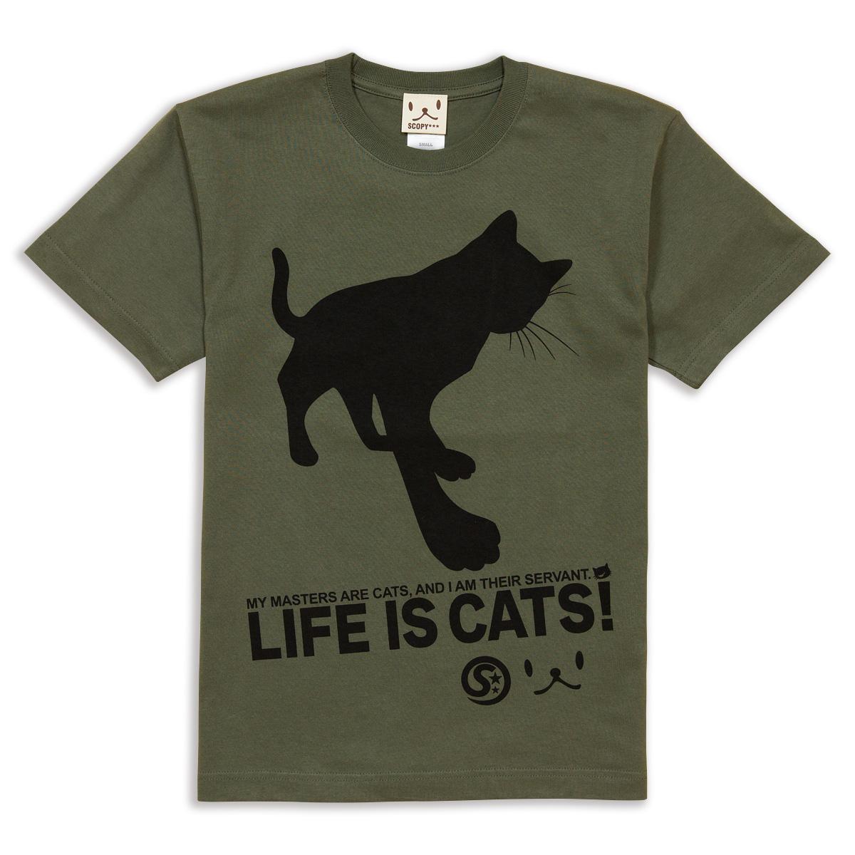 Tシャツ CAT'S SERVANT オリーブ