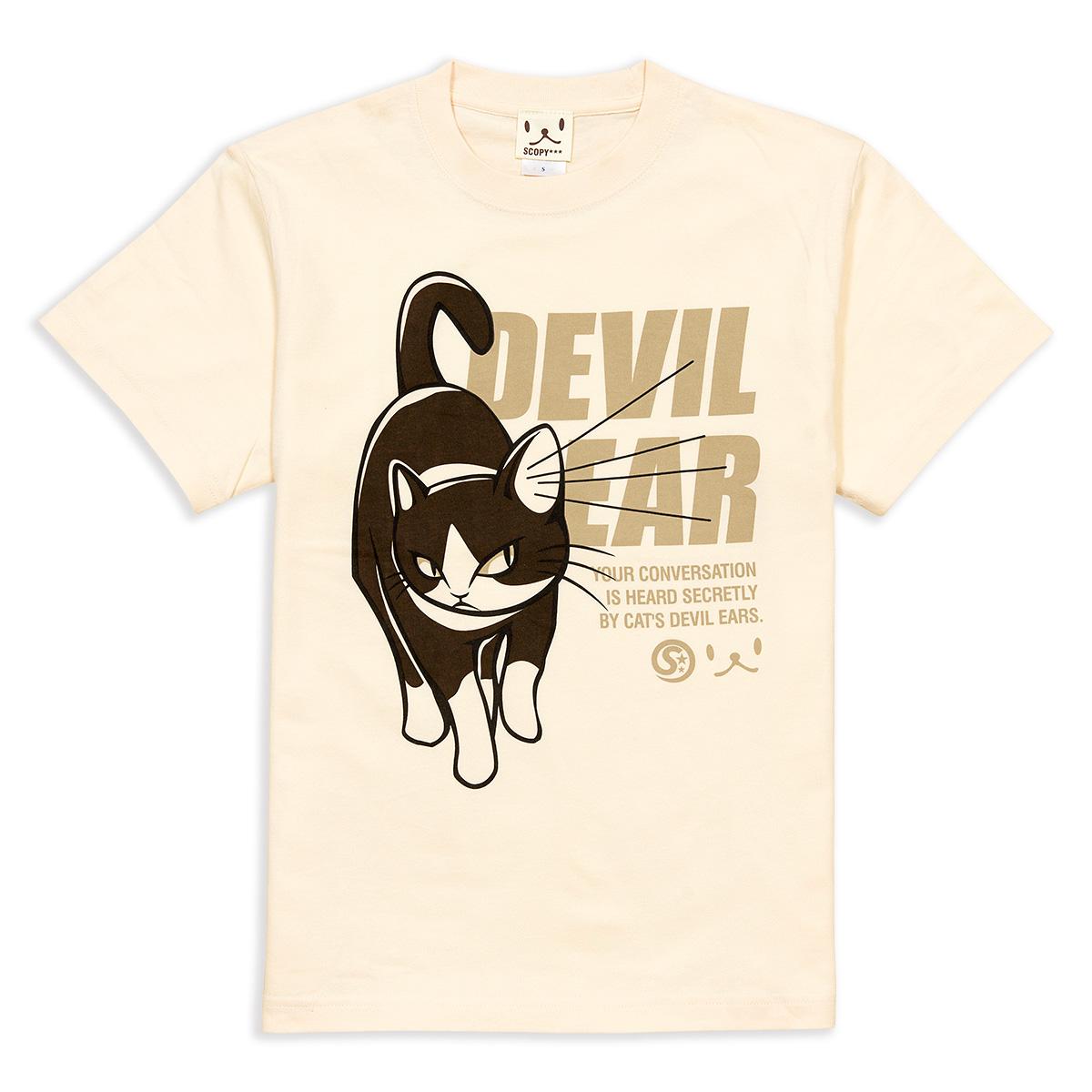 Tシャツ DEVIL EAR ナチュラル