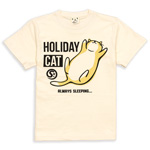 Tシャツ HOLIDAY CAT