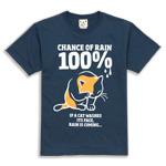 Tシャツ RAIN 100%