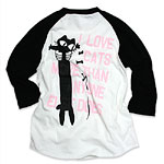七分袖Tシャツ LOVE CAT(PK)