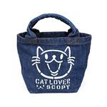 デニム・ランチバッグ:CAT LOVER