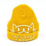 ニットキャップ:CAT LOVER