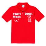 ポロシャツ:STANDING THERE