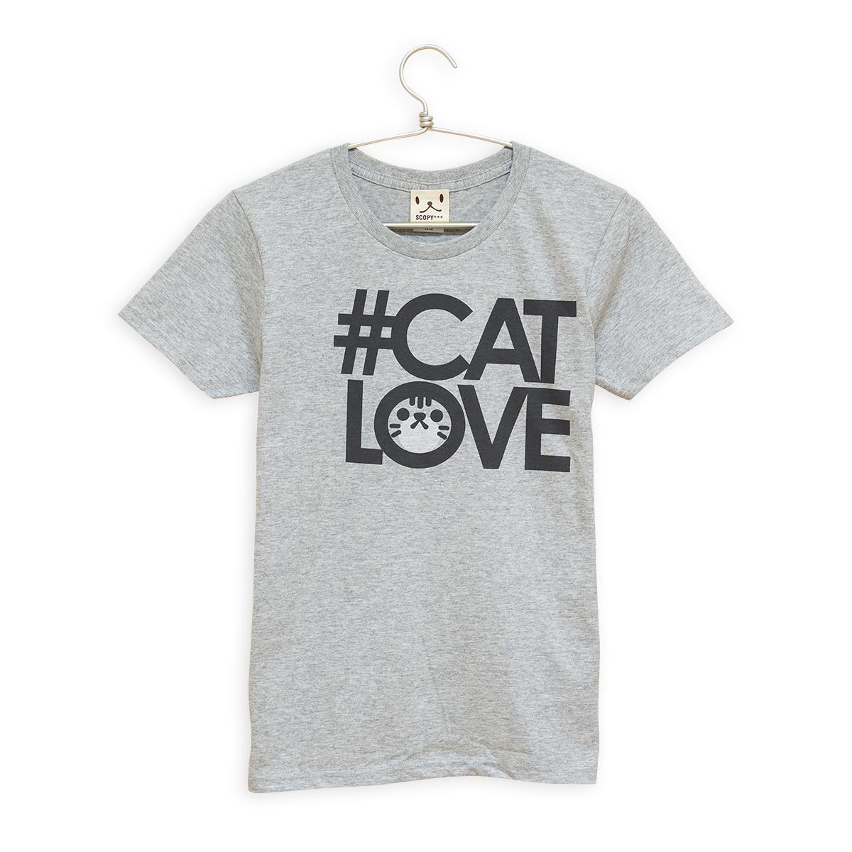 レディースTシャツ #CATLOVE サバトラ